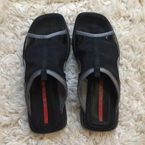Prada Sandals Slides Slip On Shoes Vintage